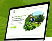 Landing page for sale of green tea