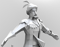 Low poly game characters WIP