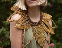 Beaded Broad Collar: Sunflower