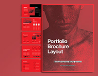 Red and Black Portfolio Brochure Template