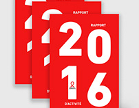 Sidaction Annual Report Design (2016)
