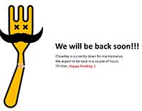 Chowkey Maintenance Page
