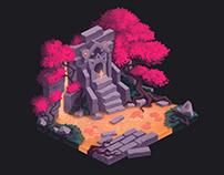 Game art location