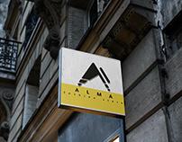 group of store monogram branding logo designs
