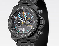 Black steel - Chronograph - watch design