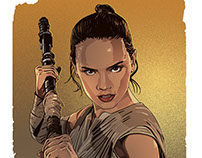 REY - STAR WARS - THE FORCE AWAKENS.