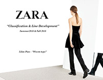 Zara Line Development: Woven tops