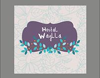 Diseño de Logotipo y Diseño 3D del Hostal Waylla