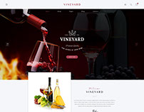Vineyard - Wine Store and Blog Responsive WordPress The