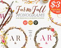 8 Farm Fall Wedding Monograms VIII