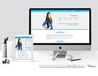 Personal one page portfolio site - 2015