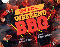 Weekend BBQ Poster Design