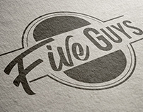 Five Guys Rebrand Logo and Styleguide