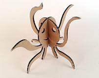 Kartonowe zwierzaki – Ośmiornica / Cardboard toys – Oct