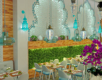Turkish cafe interior design