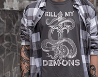 Kill My Demons | Tshirt Illustration Designs