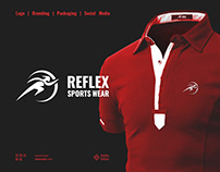 Reflex Sportswear Logo Branding Packaging Social Media