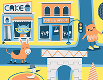 Children's Illustration - The Town's People