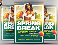 Spring Break 2017 Flyer Template 2