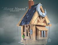 ♡ Moon House - 3D Art