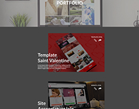 Portfolio page Layout