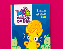 Álbum de figurinhas - Mascote do Dia