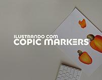 Ilustrando com Copic Markers