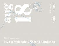 M22 sample sale X Second hand shop