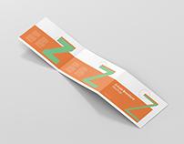 Z-Fold Brochure Mockup - Din A4 A5 A6 Landscape