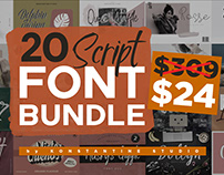 20 Script Fonts Bundle