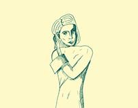 Illustrations - Vert d'âme et beige de coeur