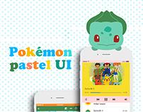 Pokemon pastel UI