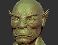 Orc Face Sculpt