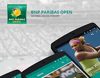 BNP Paribas Open App : Material Design