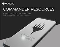 Commander Resources App UI