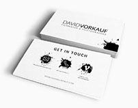 Grafikdesign / Visitenkarten David Vorkauf