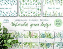 Watercolor green design