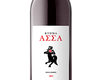 Estate Assa wine label