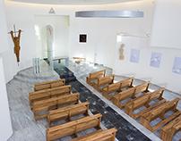 The interior of the chapel of Saint John Paul II.