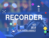 Recorder  App Project  for Press Agency