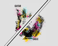 Splatter Guitar & Eagle