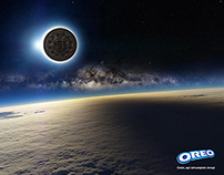 Oreo solar eclipse poster