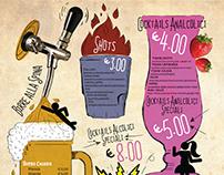 Bibenda Cafè - realizzazione Menù