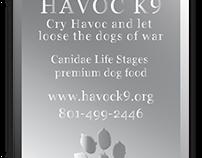 Havoc K9 - Materials for Fundraiser