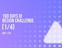 100 Days UI Design Challenge (1/4) Day 001 - 025