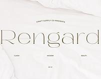 Rengard – Modern Serif Typeface (Free Download)