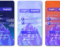 UI Design - Low Poly Art- Material Design.