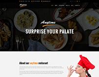 Anytime Restaurant PSD Template