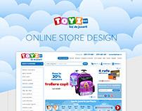Toyz.ro Online Store Design