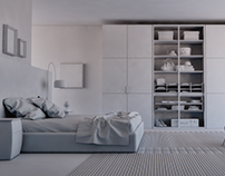 3D Clay Renders Architectural Interior